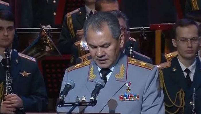 Шойгу вручил штандарт Национального центра управления обороной России