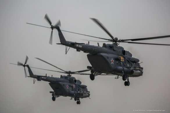 Десятки российских боевых вертолётов рядом с украинской границей