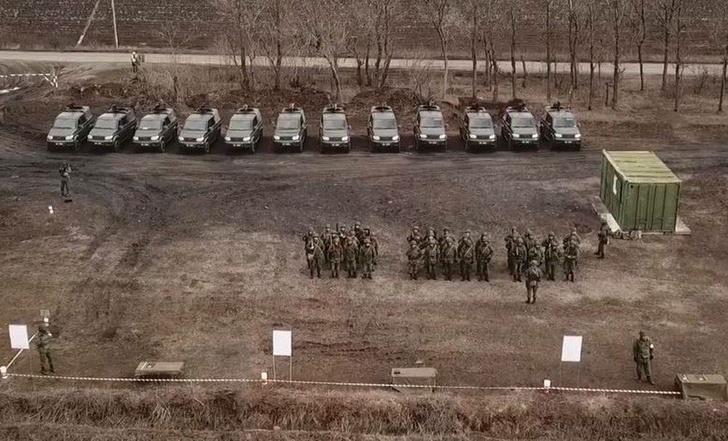 В Луганске и Донецке появились новые военные внедорожники УАЗ «Патриот»