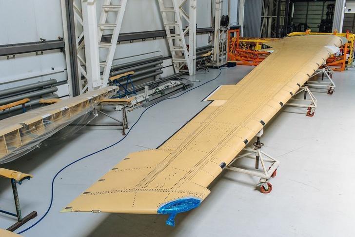 Консоль крыла МС-21-300 из композитов отечественного производства доставлена на завод «Иркут»