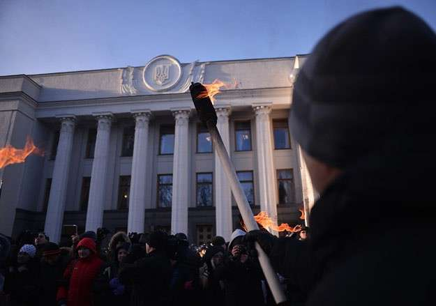 Митинг возле здания Верховной Рады