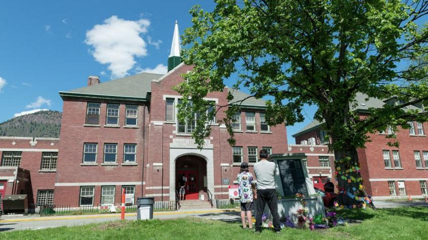 Здание администрации бывшей школы-интерната для индейцев в городе Камлупс в Канаде – РИА Новости, 1920, 30.05.2021