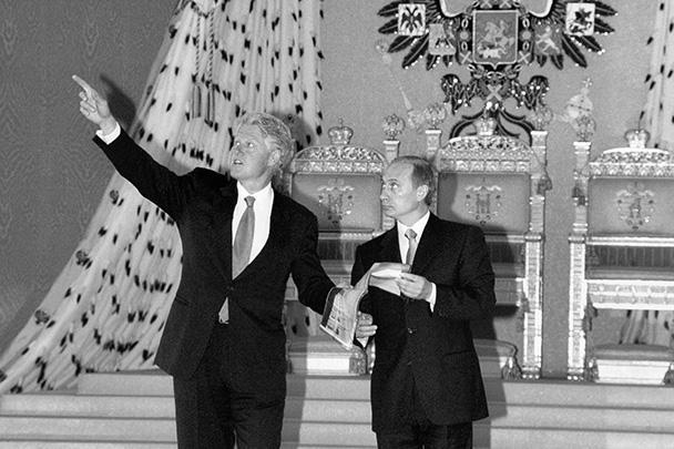 Российский президент назвал Билла Клинтона «приятным партнером», а тот отозвался о Владимире Путине как о «человеке, который способен создать сильную Россию»