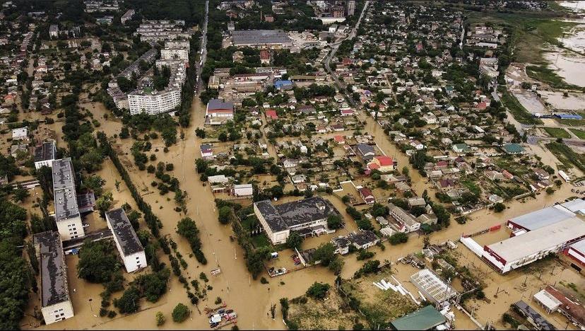 Потоп в Керчи. Вид с воздуха. Но пострадала не только Керчь