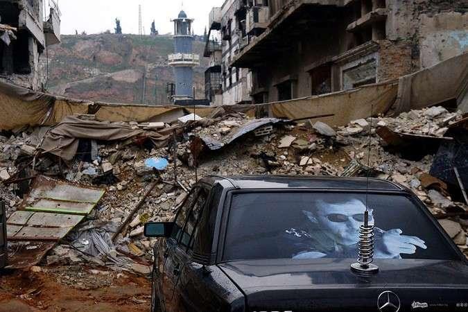 Хомс - город в зоне боевых действий