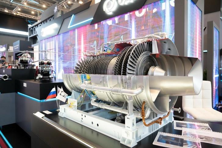 ОДК представила отечественную турбину большой мощности ГТД-110М на выставке «Иннопром-2021»