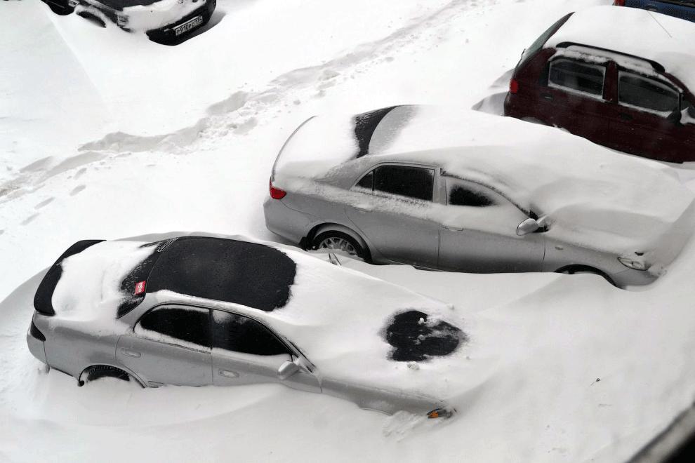 В конце апреля на Урале выпал снег