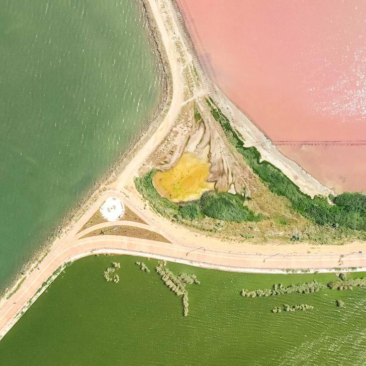 Сакское озеро. Вид с квадрокоптера