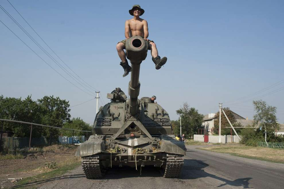 Украинский солдат в донецкой области на востоке Украины