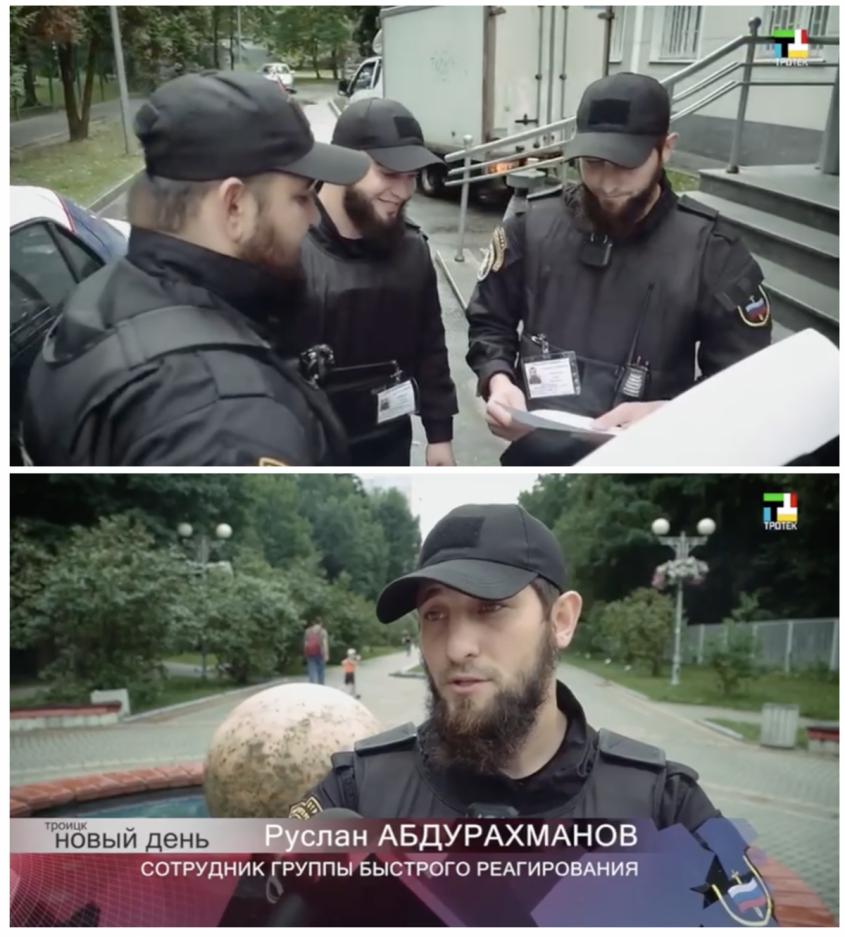Чеченский ЧОП наводит порядок в Москве и проводит «антитеррористические» мероприятия