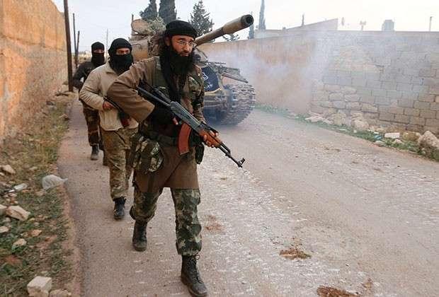 Боевики на севере Алеппо