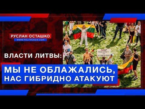 Власти Литвы: мы не облажались с майданом в Белоруссии, нас гибридно атакуют