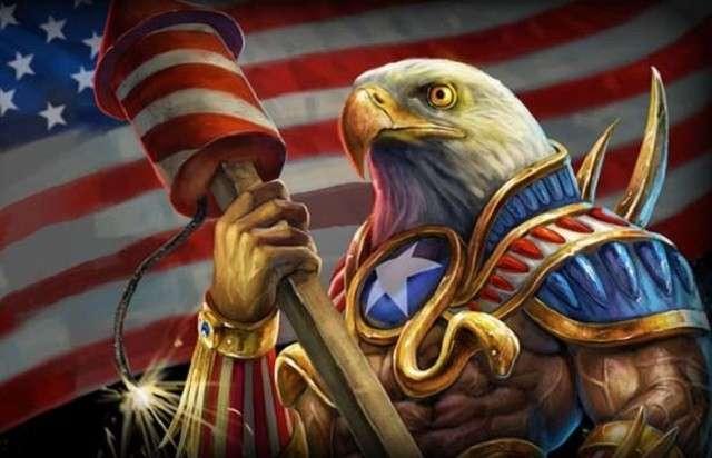 Мирный американский орёл