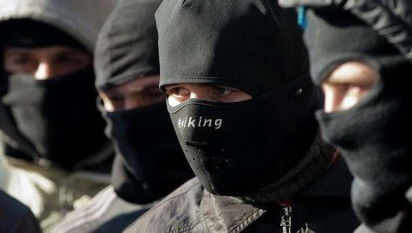 Активисты Правого сектора. Архивное фото.