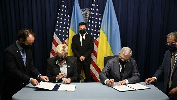 Президент Украины Владимир Зеленский во время рабочего визита в США