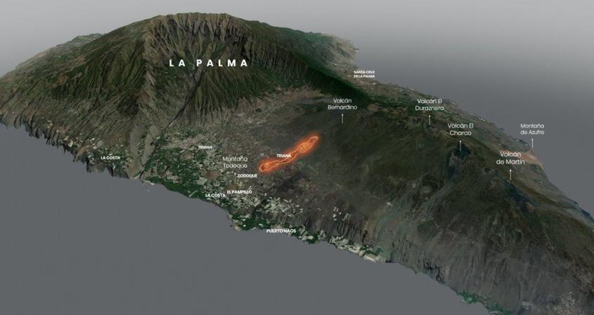 На острове Ла-Пальма лавовый поток разрушил уже 380 домов