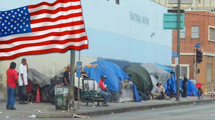 У 74 млн американцев нет ни жилья, ни счетов в банке, ни доходов, а 27% живут ниже черты бедности