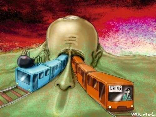 А это карикатуры Charlie Hebdo посвящённые терактам в московском метро
