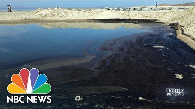 NBC: экологический кошмар – Калифорния столкнулась с масштабной утечкой нефти у побережья