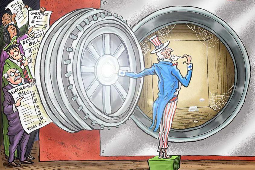 США уже не могут существовать без того, чтобы не жить в долг