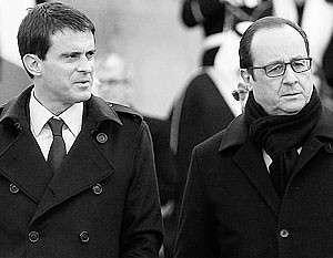 Олланду на марше в Париже пришлось одергивать Вальса