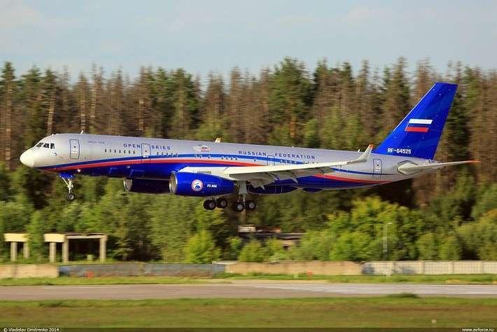 Второй самолет Ту-214ОН (регистрационный номер RF-64525, cерийный номер 525), построенный для Министерства обороны России, и сданный в 2014 году (с) Владислав Дмитренко / www.airforce.ru