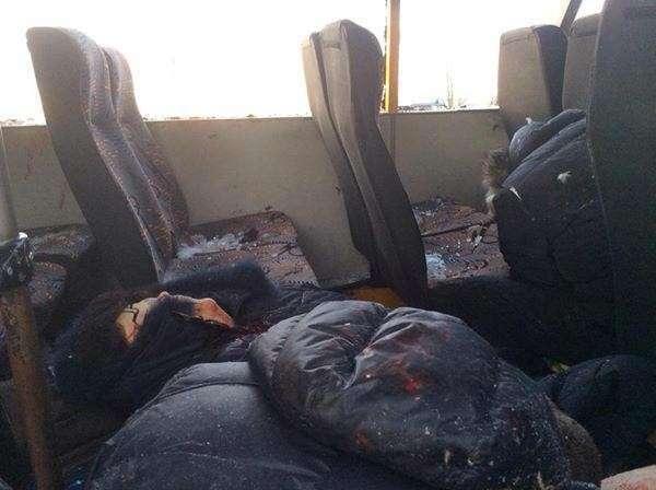 Обстрелян пассажирский автобус под Волновахой