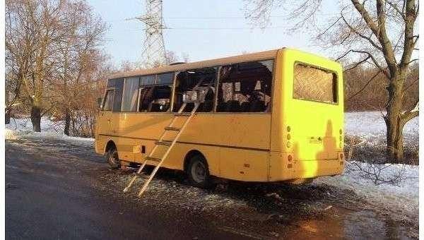 МИД России: Москва требует расследования обстрела автобуса в Донбассе