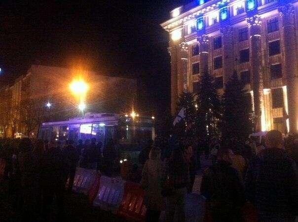 В Харькове штурмуют ОГА. Прямая трансляция