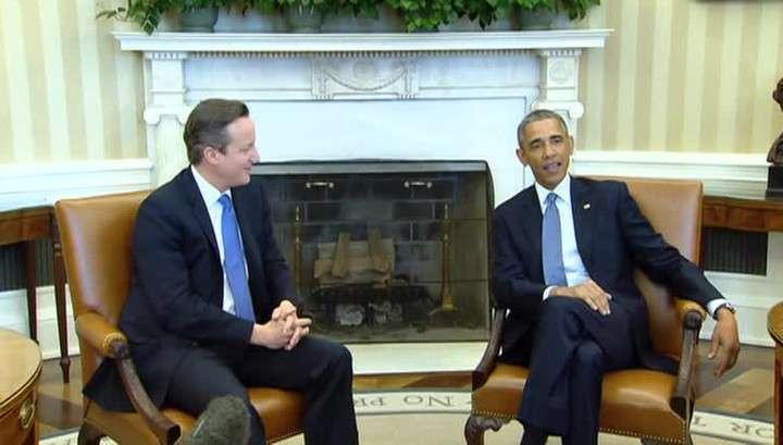 Обама и Кэмерон договорились не ослаблять антироссийские санкции