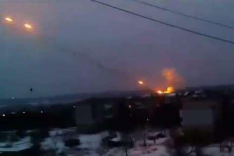 Обстрел жилого массива Донецка «Градами»