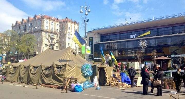 Прогулка блоггера на майдан в Киеве