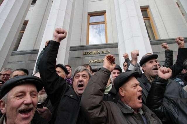 «Верните Януковича!»: украинские шахтеры вышли на Майдан
