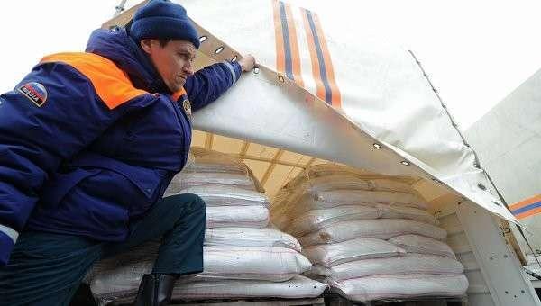 Двенадцатый гуманитарный конвой для Донбасса в Ростовской области