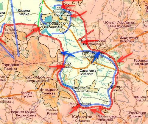 Дебальцевский котел, преднамеренное уничтожение укранцев