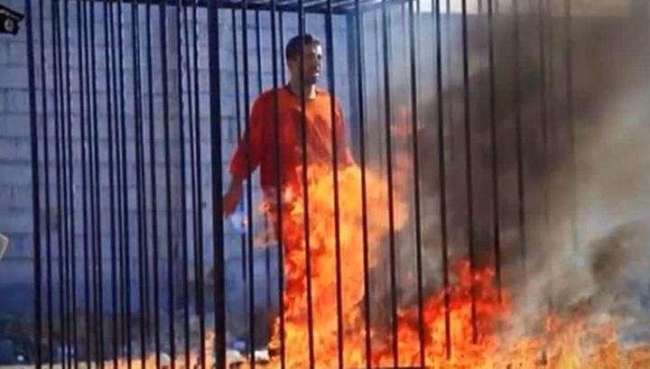 Исламисты сожгли заживо иорданского пилота