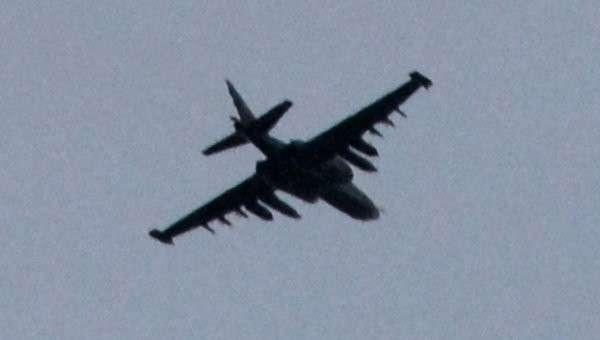 Штурмовик СУ-25 в Донецке. Архивное фото