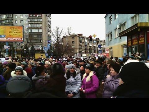 Украинцы устроили митинги против мобилизации