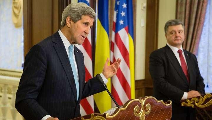 Хитрый Керри: США готовы стать гарантом мира на Украине
