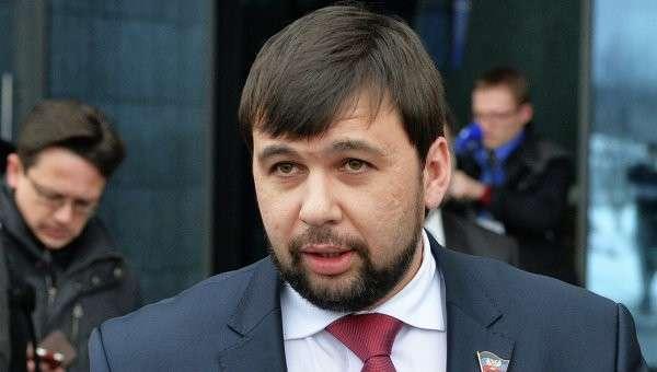 Представитель Донецкой народной республики Денис Пушилин в аэропорту Минска. Архивное фото