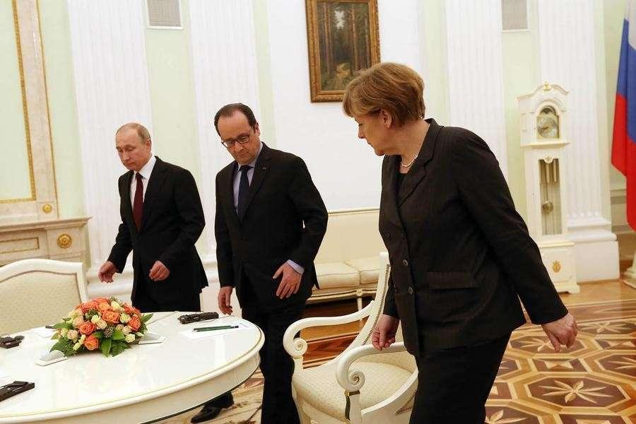 В Москве завершились переговоры Владимира Путина, Ангелы Меркель и Франсуа Олланда
