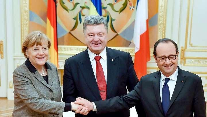 Порошенко считает новый план Меркелль и Олланда работоспособным