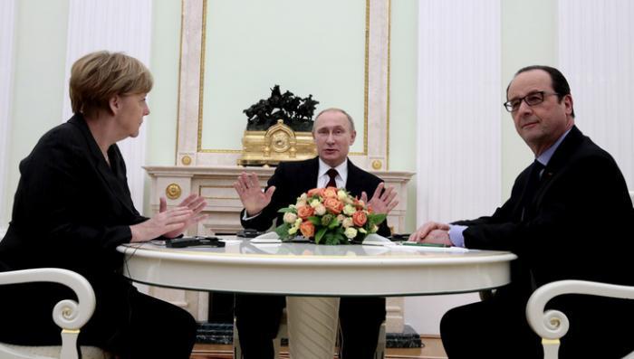 Когда запахло жареным, Олланд и Меркель прилетели к Путину