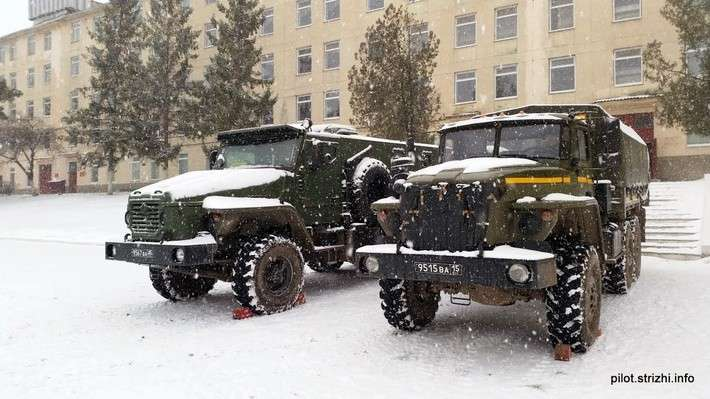 Бронированная машина «Урал-ВВ» во Внутренних войсках МВД России