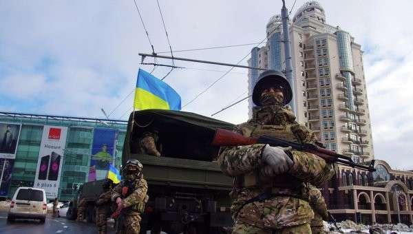 Бойцы Нацгвардии Украины в Одессе, 5 января 2015. Архивное фото