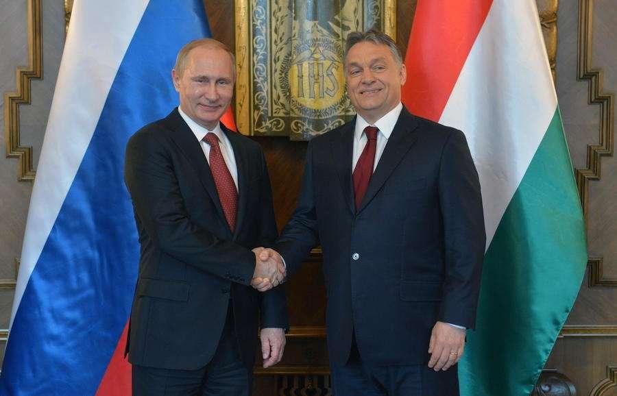 Совместная пресс-конференция Владимира Путина и Виктора Орбана 17 февраля 2015 года
