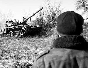 Басурин: Ополченцы захватили в Дебальцево 265 единиц украинской военной техники