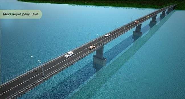 В Удмуртии началось строительство автомобильного моста через Каму