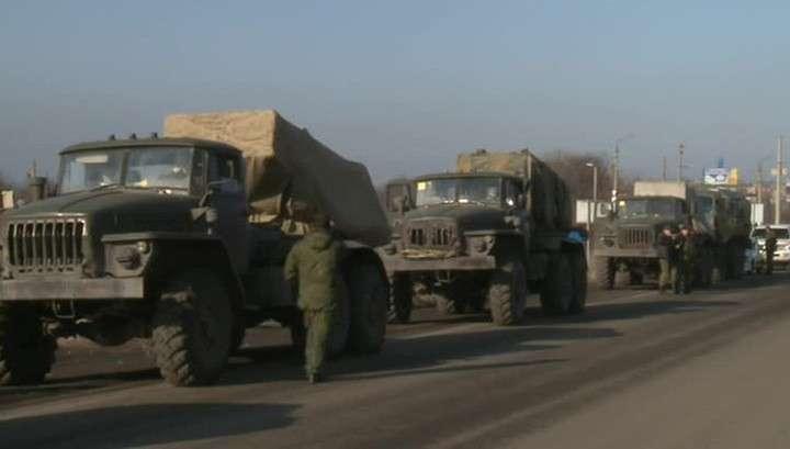 В Донбассе «Грады» отводят в сопровождении миссии ОБСЕ