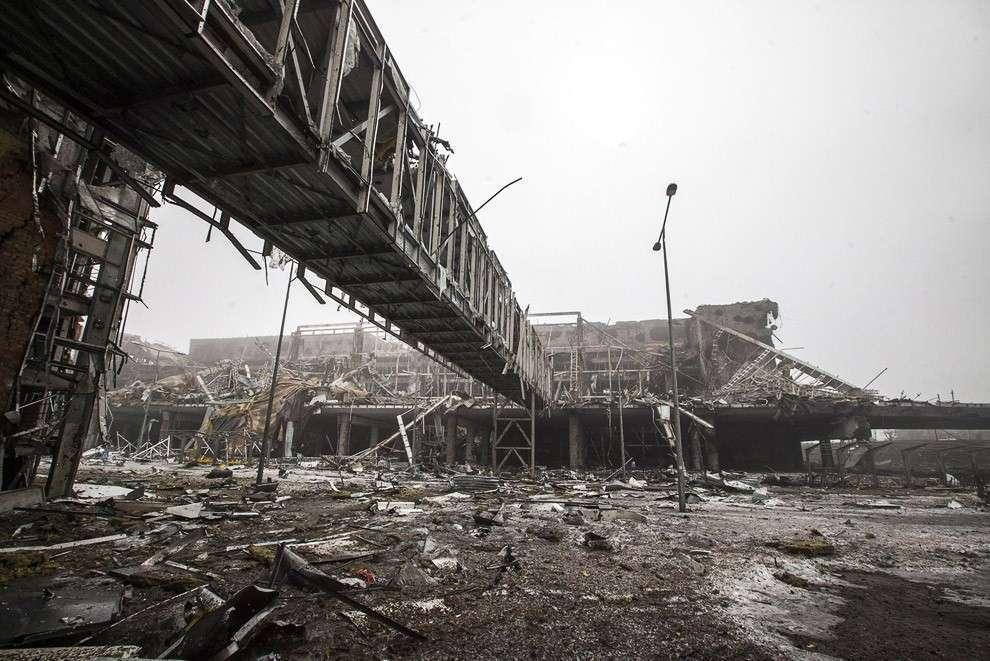 Остатки Донецкого аэропорта